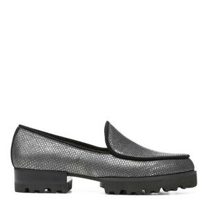 Donald Pliner ELEN Metallic Loafer Silver 9.5